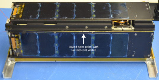 LightSail bowed solar panel