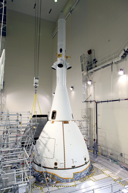 Orion integrated with Launch Abort System