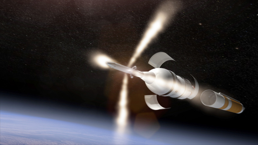 Orion discards its Launch Abort System