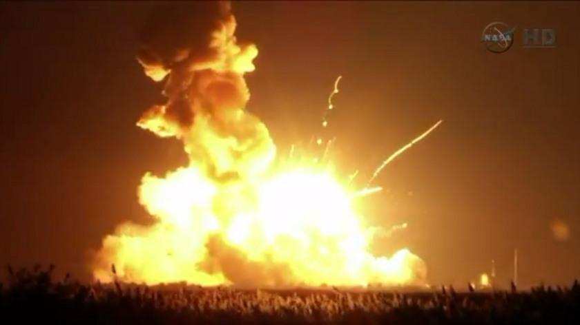 Antares explodes