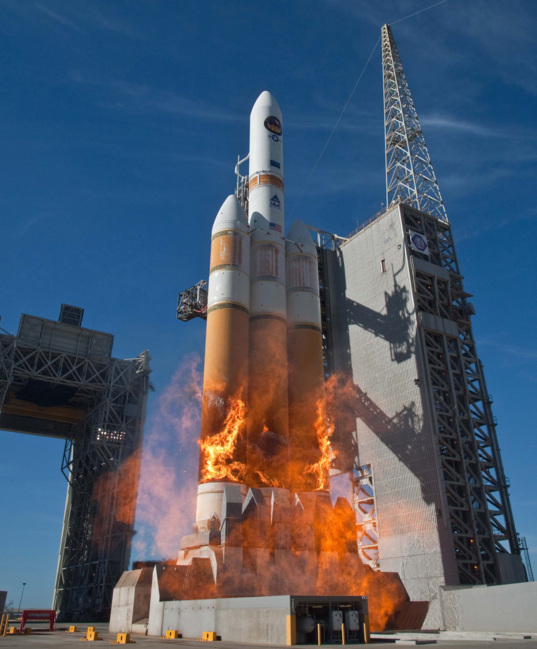 A fiery liftoff