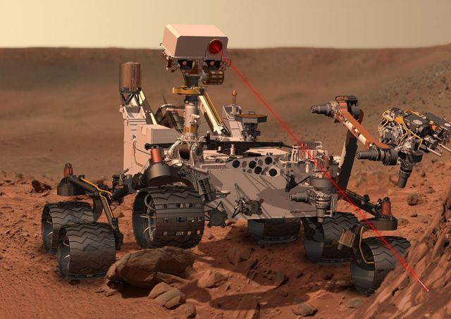 Curiosity using LIBS
