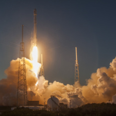 Falcon 9 and DSCOVR liftoff