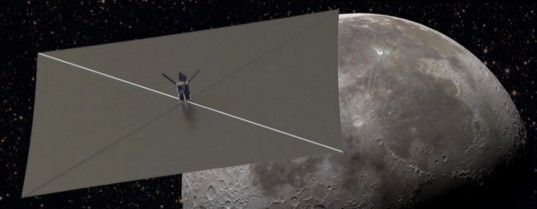 Artist's impression of the Lunar Flashlight solar sail