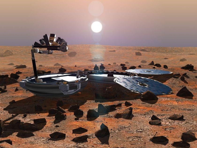 Artist's impression of Beagle 2 on Mars