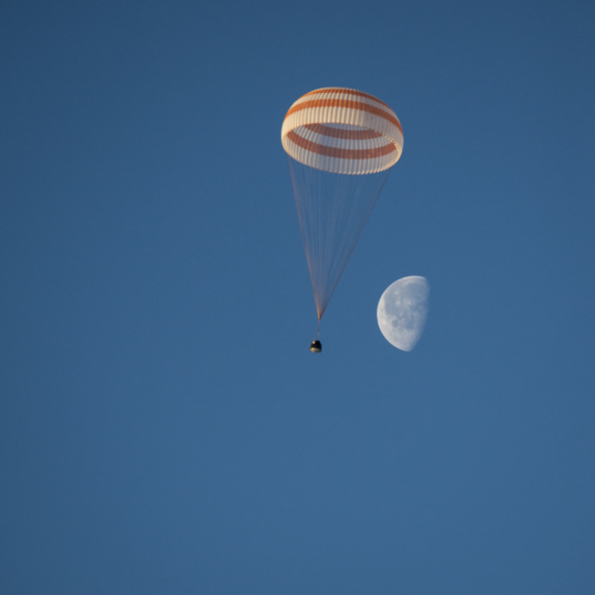 Soyuz and moon