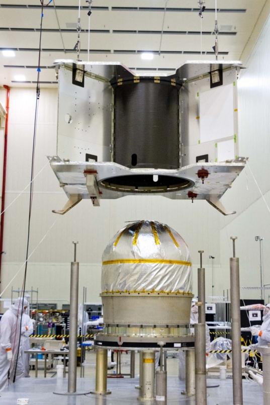 OSIRIS-REx structure and propellant tank