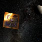 Artist's depiction of IKAROS in space