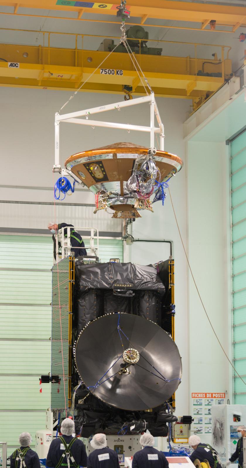 Schiaparelli lander meets ExoMars orbiter