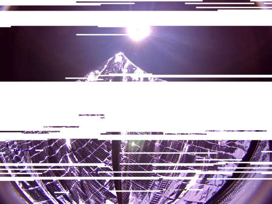 LightSail partially downloaded sail image (reprocessed)