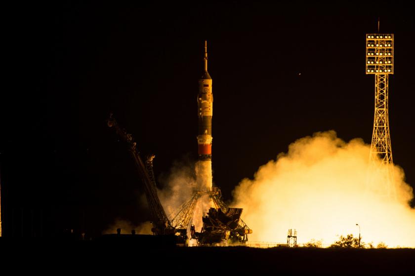 Soyuz TMA-17M liftoff 1