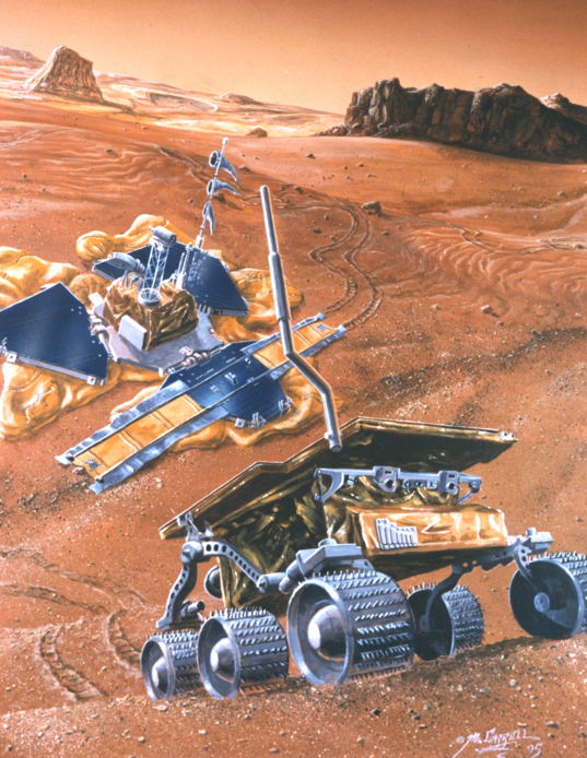 Mars Pathfinder and Sojourner rover