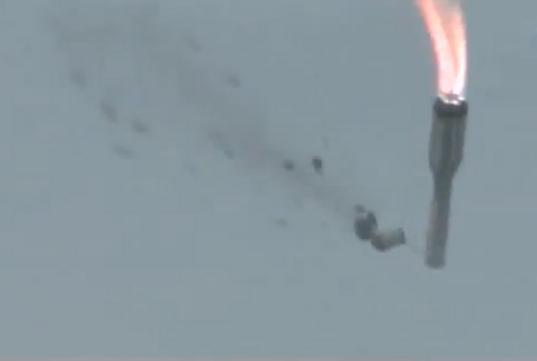 Russian rocket veers off course