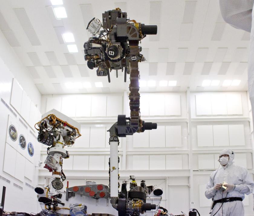 Curiosity's Arm Held High