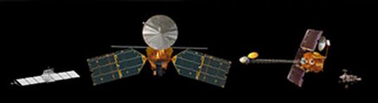 Mars spacecraft size comparison