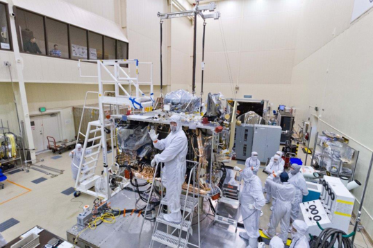 Installing the SARA panel on OSIRIS-REx