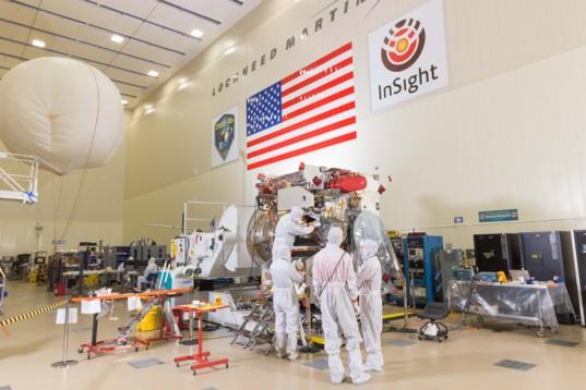 OSIRIS-REx team working on spacecraft