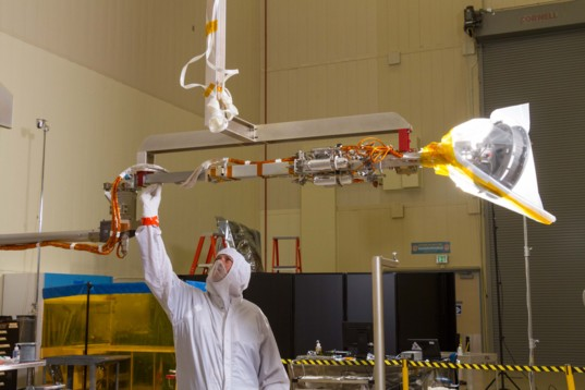 OSIRS-REx sample arm imaging test