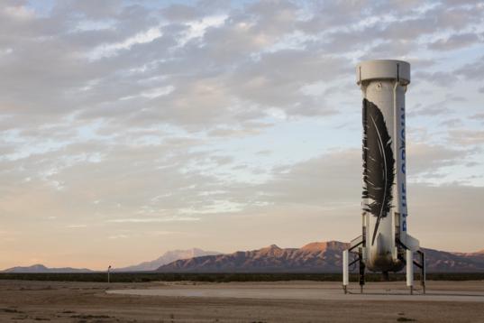 Blue Origin New Shepard after first landing