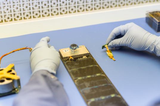 Camera on the solar array