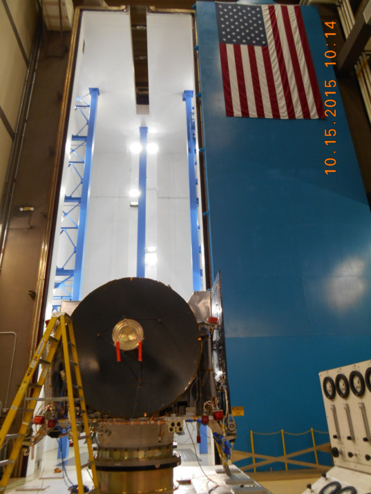 OSIRIS-REx entering test chamber