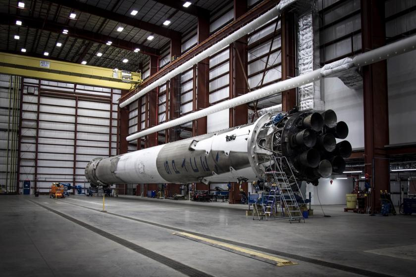 Recovered Falcon 9 first stage at LC-39A
