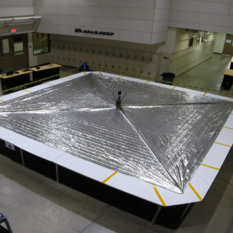 LightSail 2 with solar sails deployed