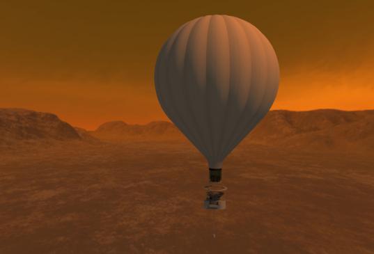 Artist's concept of a Titan balloon