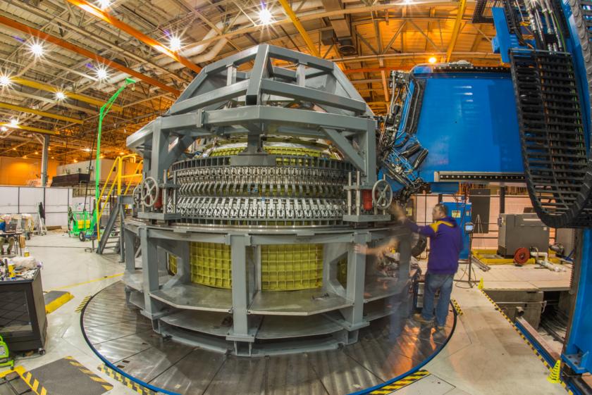 Orion EM-1 final weld, barrel to cones