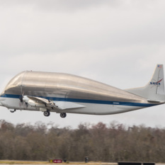 Super Guppy departs New Orleans with Orion EM-1