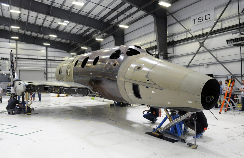 Second SpaceShipTwo under construction - 1