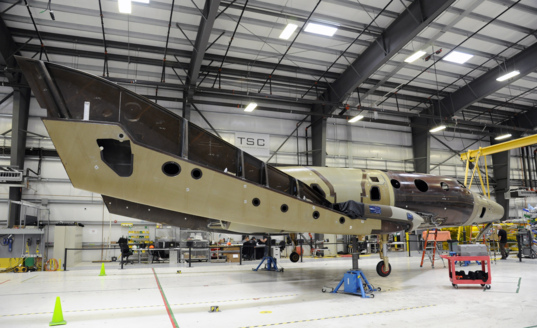 Second SpaceShipTwo under construction - 2
