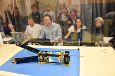 Posing for LightSail's camera