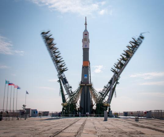 Soyuz MS-01 on the pad