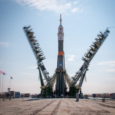 Soyuz MS-01 on the pad