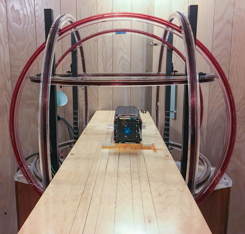 LightSail 2 magnetometer testing at UCLA IGPP