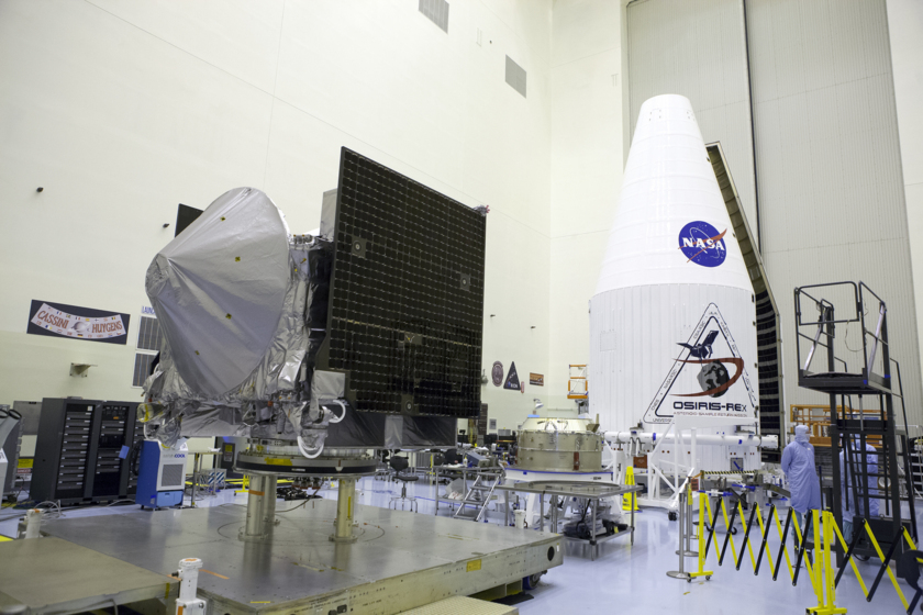 OSIRIS-REx waiting for encapsulation