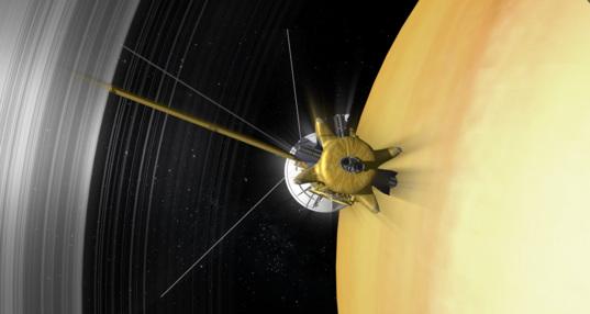 Cassini in orbit