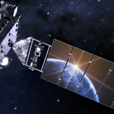 Artist's rendition of GOES-16 in space