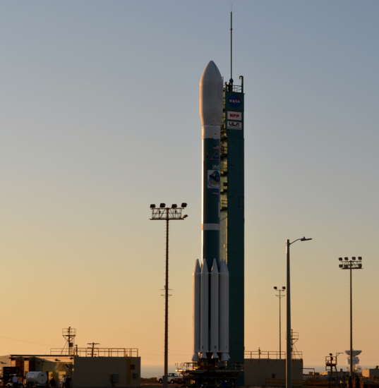 Delta II with NPP satellite