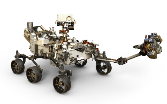 Mars 2020 rover artist's concept (no background)