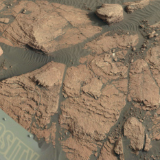 Misery outcrop, Curiosity sol 1591