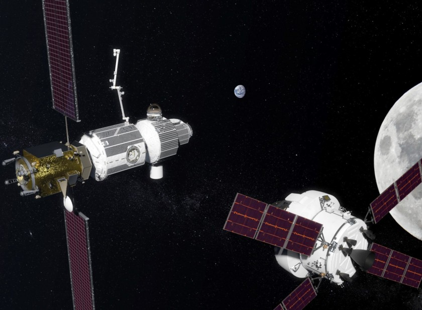 Orion approaches the Lunar Orbital Platform-Gateway