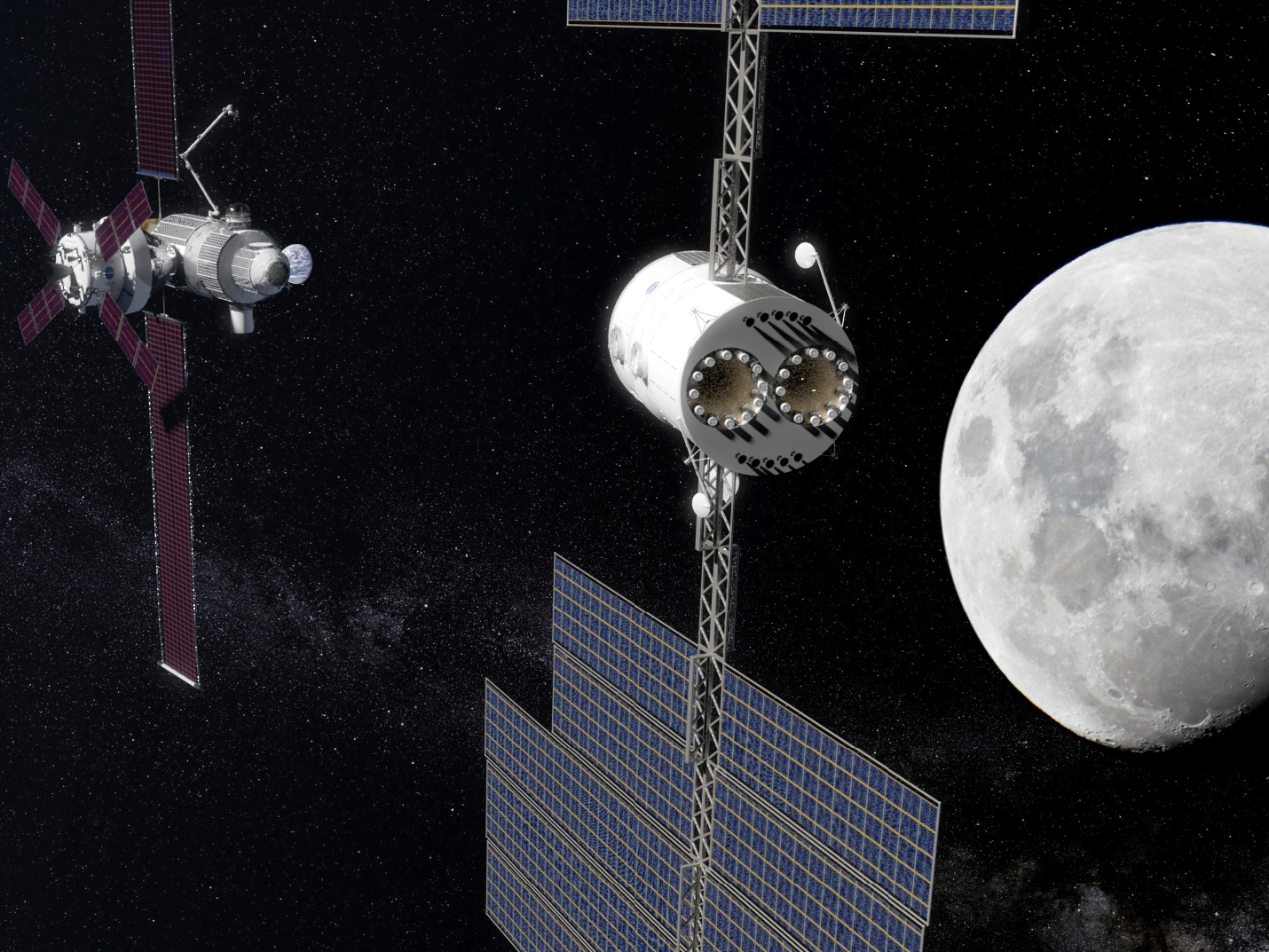 Deep Space Gateway >> Deep Space Transport Approaches The Deep Space Gateway The