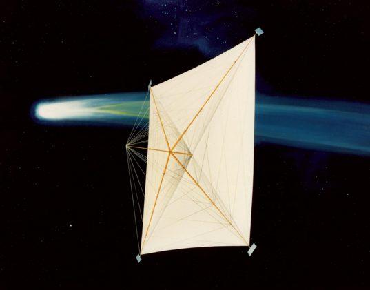 Halley's Comet solar sail concept