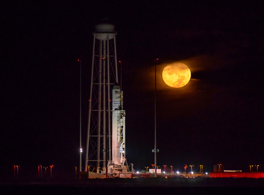 Antares and Moon