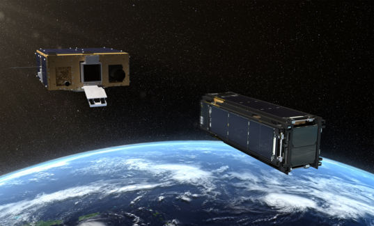 LightSail 2 and Prox-1 artist concept with Earth behind