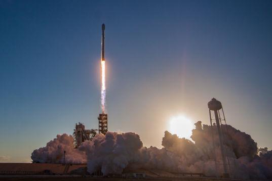 Falcon 9 sunset liftoff