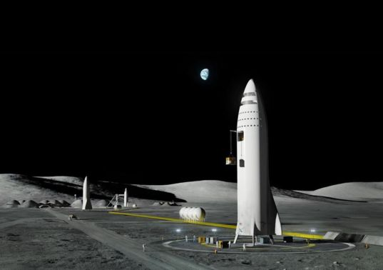 SpaceX Moon base concept