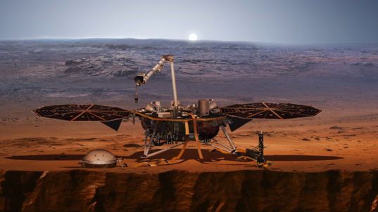 Mars InSight artist concept cutaway